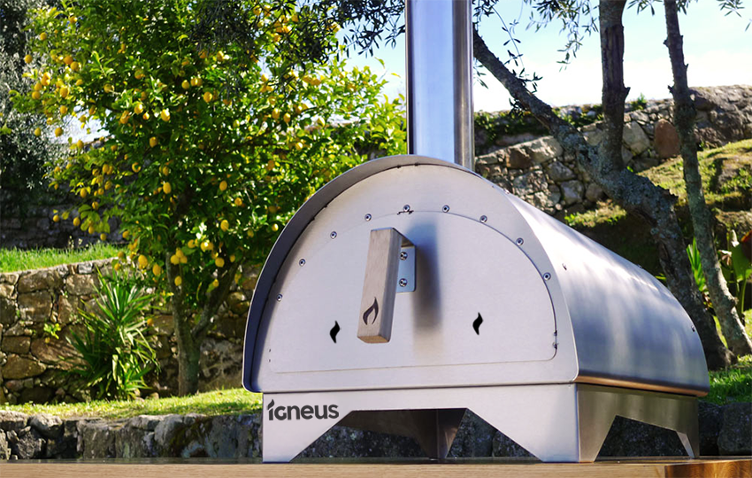 Igneus Minimo pizza oven in Stainless Steel